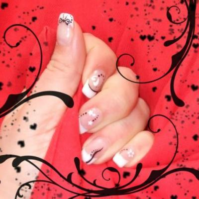 Gel french sur mains